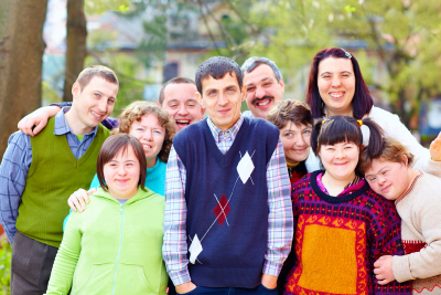 people with disability having a group picture